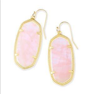‼️PRICE DROP - Kendra Scott rose quartz earrings